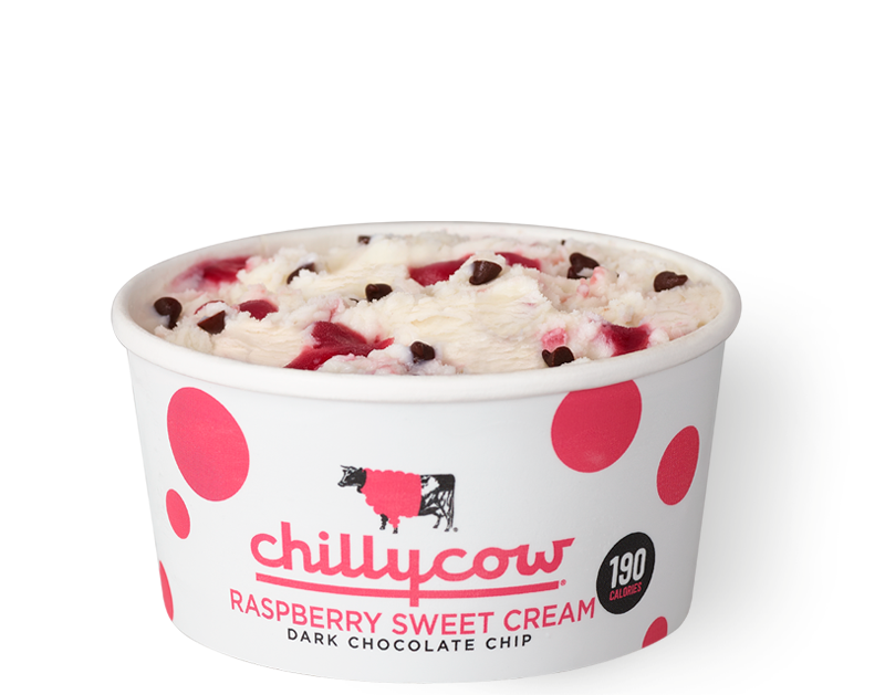 Raspberry Sweet Cream Dark Chocolate Chip
