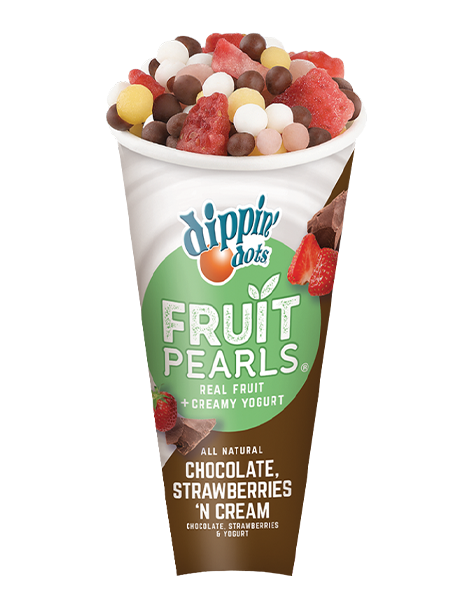 Dippin Dots® Fruit Pearls® Chocolate, Strawberries 'n Cream