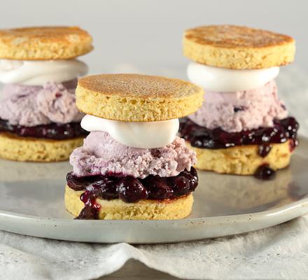 Blueberry Short Stack Ice Cream Sliders