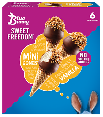 Sweet Freedom® Snack Size Vanilla Cones