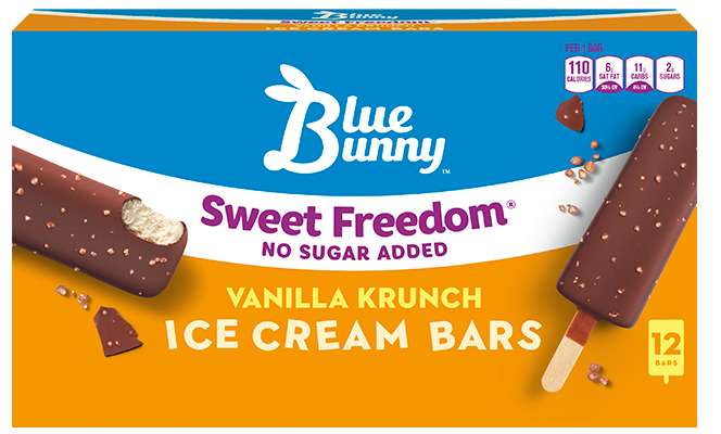 Sweet Freedom® Vanilla Krunch Ice Cream Bars