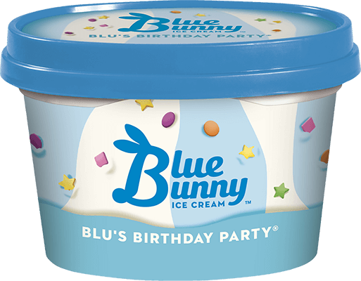 Blu S Birthday Party Cake Flavored Ice Cream Blue Bunny