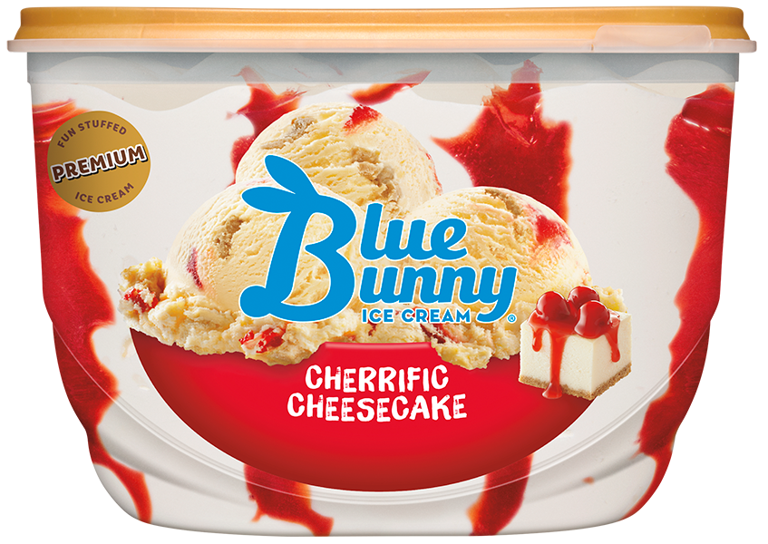 Cherrific Cherry Cheesecake Ice Cream - Blue Bunny
