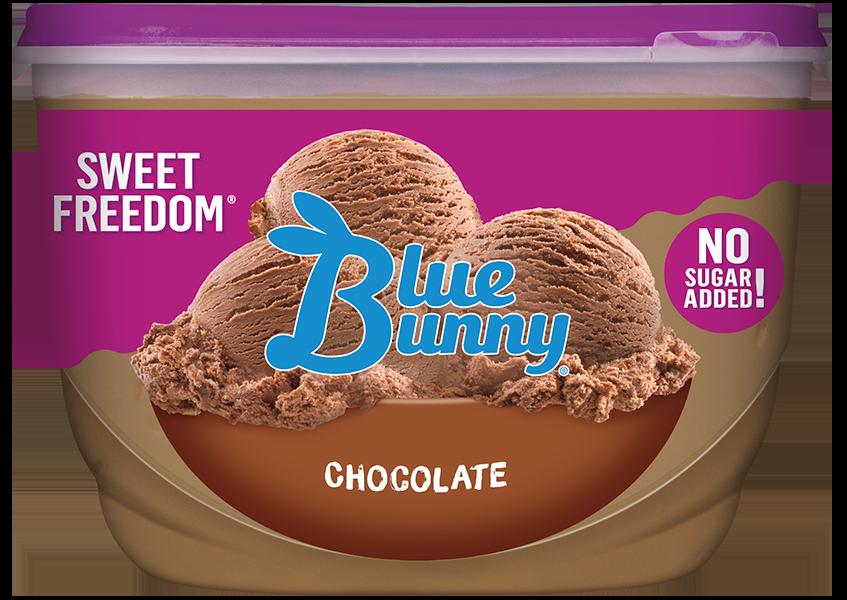 Sweet Freedom Chocolate Ice Cream - No Sugar Added - Blue Bunny