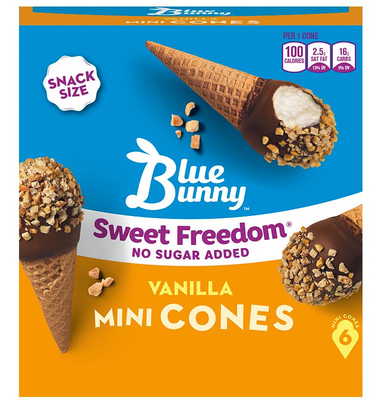 Blue Bunny Birthday Cake Ice Cream Cones Cake Recipe