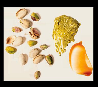 Pistachio & Caramel Inclusions