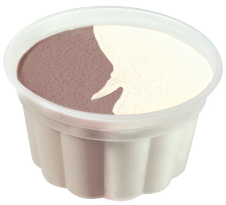 Low Fat Chocolate & Vanilla Ice Cream Cup