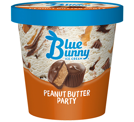 Image result for blue bunny peanut butter party