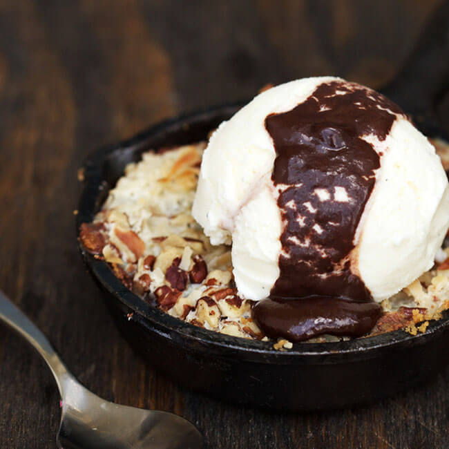 Coconutty Cookie Bar Skillet