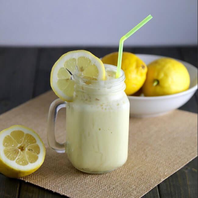 Homemade Frozen Lemonade