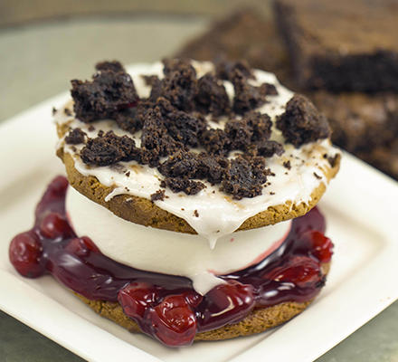 Black Forest Chocolate Chip Ice Cream Sandwich