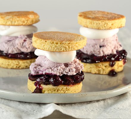 Blueberry Short Stack Ice Cream Sliders