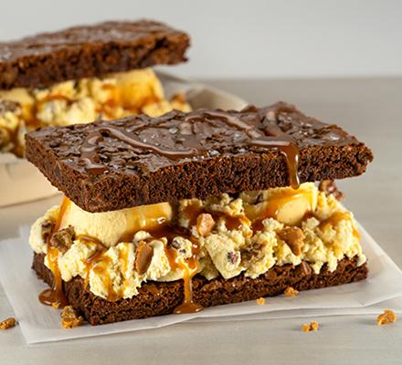 Butter Pecan Brownie Sandwich