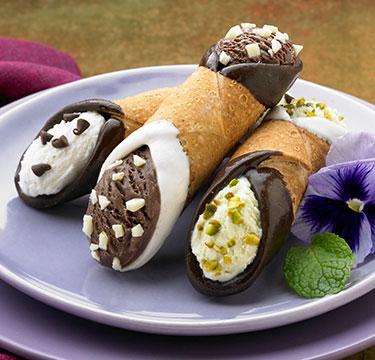 Ice Cream Cannolis
